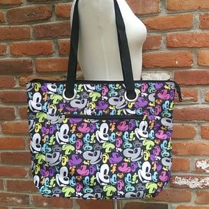 NEW Disney Mickey Mouse Full Zipper Tote
